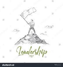 vector hand drawn leadership concept sketch stock vector 534275230