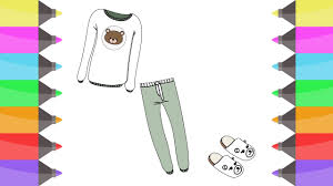 colours for kids sweet shirts pants coloring pages l how to t