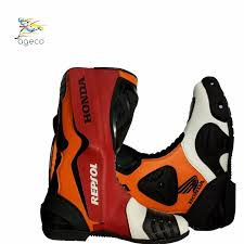 racing boots honda repsol motorbike shoes racingboots with on road tracking
