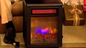 quartz infrared fireplace fire
