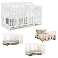 Fixed Side Convertible Crib Stork Craft Portofino 4 In 1 Fixed Side Convertible Crib Changer