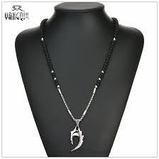 hiphop rock silver stainless steel wolf s fang pendant necklaces