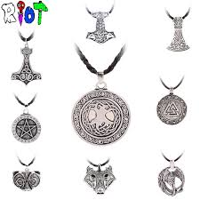 silver necklace types images 12 types viking choker necklace leather chain pendant the tree jpg
