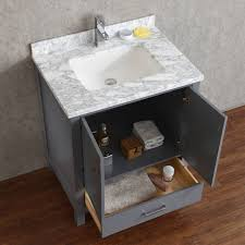 30 inch solid wood double bathroom vanity in charcoal grey hm