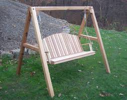 furniture charming wooden porch swings with iron string and a