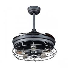 grey ceiling fan with light 42 inch industrial caged ceiling fan with light and remote fandelier