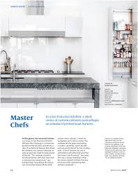 Kitchen Cabinet San Francisco Dwell Features Our San Francisco Master Chef U0027s Kitchen Jeff King