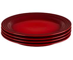 dinner plates set of 4 le creuset