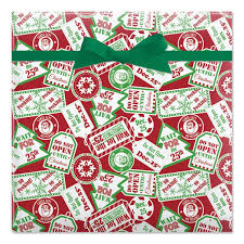 christmas wrapping paper decor tips do not open until christmas jumbo rolled gift wrap