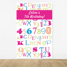 photo booth backdrop alphabet personalized photo booth backdrop kids birthday party