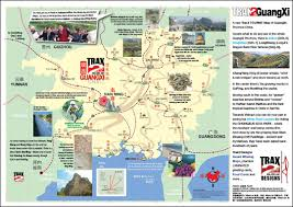 Map Of China Provinces Guangxi Tourist Guide With Detail Tourist Map Of Guangxi