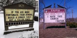 10 church signs for the masses that are both witty and wise