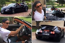 bugatti veyron cristiano ronaldo shows off incredible 1 7million bugatti veyron