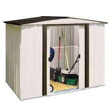arrow newport 8 ft x 6 ft steel shed np8667 the home depot