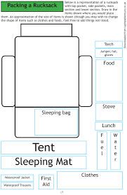 6 Figure Grid Reference Worksheet Equipment And Rucksack Packing Can Dofe