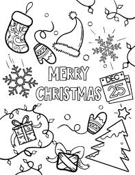 merry christmas coloring pages free printable santa merry