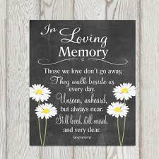 wedding memorial sign memorial table in loving memory printable from dorindaart on etsy