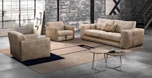 contemporary sofa leather 2 seater beige richmond gamma