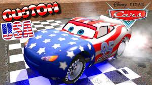 Custom Car Flag Custom Lightning Mcqueen Usa Disney Pixar Cars Custom Mcqueen