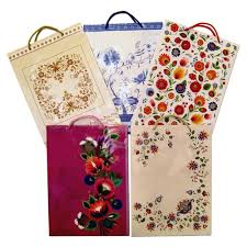 themed paper center folk themed gift bags set a set of 5
