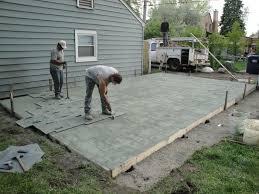 Concrete Patio Designs Decorating Installation Sted Concrete Patio In Extrior