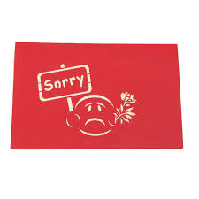 sorry cards 2017 sorry greeting 3d card pop up paper cut postcard birthday