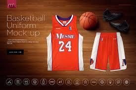 basketball uniform mock up product mockups creative market