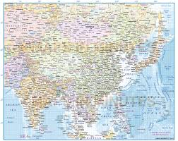 South East Asia Map Digital Vector Map Of East Asia Region Political With Ocean