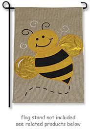 honey bee burlap garden flag just for flags windsocks