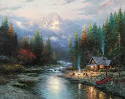 the end of a perfect day ii thomas kinkade