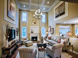 Toll Brothers Duke Story Family Room Gorgeous Interiors - Two story family room