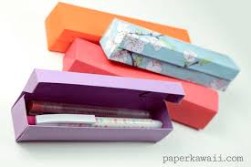 pencil boxes origami pencil box tutorial paper kawaii