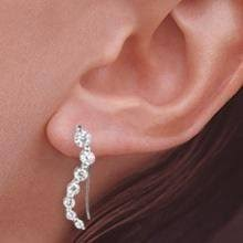 ear pin earrings the ear pin cubic zirconia and gold plated sterling