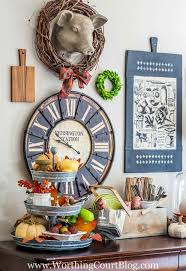 Fall Kitchen Decor - fall decor on my kitchen sideboard and some changes to my gallery