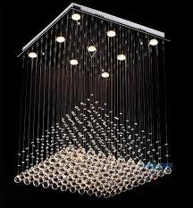 Crystal Chandelier Ball Modern Clear Square Crystal Chandelier Pyramid Rain Drop Lamp