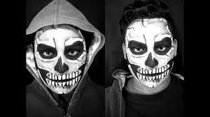 imagenes de calaveras hombres tutorial maquillaje de calavera clásica para hombre youtube