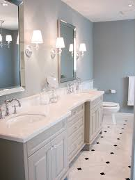 Blue And Black Bathroom Ideas by Gorgeous White And Grey Bathroom Sea Blue Walls And Marble With