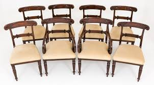 William Iv Dining Chairs Set Of 8 Mahogany William Iv Style Dining Chairs Loveantiques Com