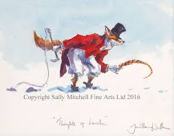 c441x thoughts of lunch funny pheasant and fox christmas cards