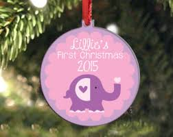 Personalized Christmas Ornaments Baby Baby U0027s First Christmas Ornament Baby Shower Personalized