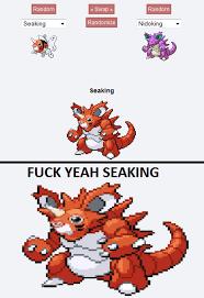 Fuk Yeah Meme - fuck yeah seaking pokefusion pokemon fusion know your meme