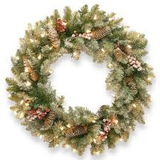artificial wreaths decorated photo ideas