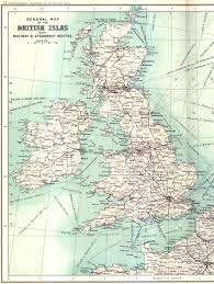 North European Plain Map by British Railway And Sea Routes In 1900 1434x1905 Ireland And