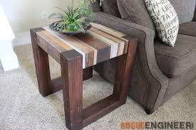 Diy End Grain End Table Diy Wood End Table