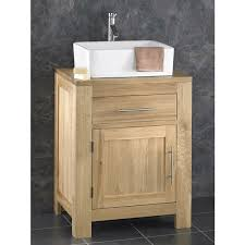 Oak Bathroom Cabinet Solid Oak Alta 60cm Wide Single Door Cabinet With Basin Set Choice