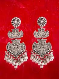 latkan earrings silver latkan earrings jewellery indian dresses