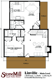 linville floor plan by stonemill log u0026 timber homes stonemill