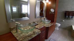easy bathroom makeover ideas bathroom glass bowl sinks sit atop the vanity in the master