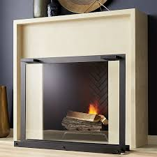 glass fireplace screen crate and barrel