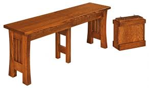 Arts And Crafts Dining Room Set by Arts U0026 Crafts Trestle Bench Wparts U0026craftsbench Westchester Woods